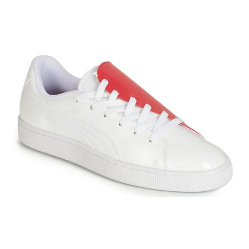 Topánky Ženy Nízke tenisky Puma WN BASKET CRUSH.WH-HIBISCU Biela