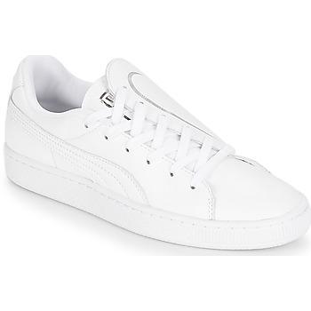 Topánky Ženy Nízke tenisky Puma WN BASKET CRUSH EMBOSS.WH Biela