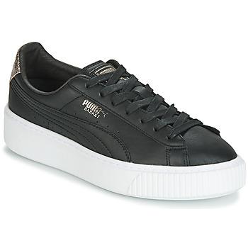 Topánky Ženy Nízke tenisky Puma WN SUEDE PLATFM OPULENT.BL Čierna