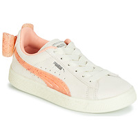 Topánky Dievčatá Nízke tenisky Puma PS SUEDE BOW JELLY AC.WHIS Béžová