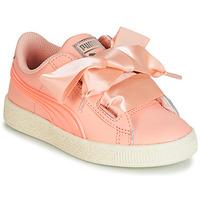 Topánky Dievčatá Nízke tenisky Puma PS BASKET HEART JELLY.PEAC Ružová
