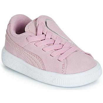Topánky Dievčatá Nízke tenisky Puma INF SUEDE CRUSH AC.LILAC Fialová