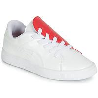 Topánky Dievčatá Nízke tenisky Puma PS BKT CRUSH PATENT AC.W-H Biela