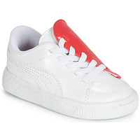 Topánky Dievčatá Nízke tenisky Puma INF B CRUSH PATENT AC.W-H Biela