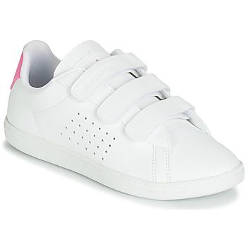 Topánky Dievčatá Nízke tenisky Le Coq Sportif COURTSET PS Biela / Ružová