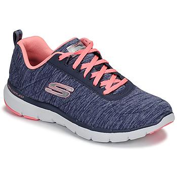 Topánky Ženy Fitness Skechers FLEX APPEAL 3.0 Námornícka modrá / Ružová