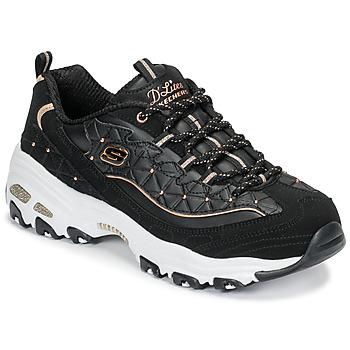 Topánky Ženy Nízke tenisky Skechers D'LITES GLAMOUR FEELS Čierna