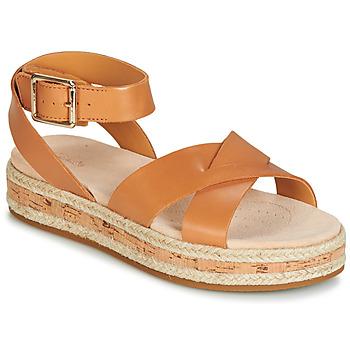 Topánky Ženy Sandále Clarks BOTANIC POPPY Hnedá