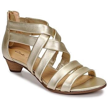 Topánky Ženy Sandále Clarks MENA SILK Šampanské