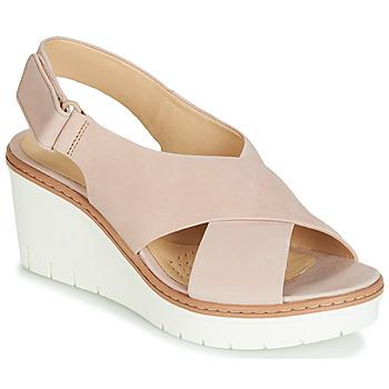 Topánky Ženy Sandále Clarks PALM CANDID Svetlá telová