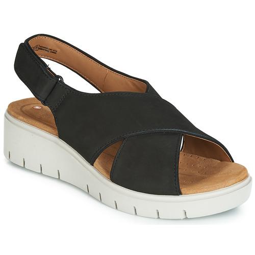 Topánky Ženy Sandále Clarks UN KARELY SUN Čierna