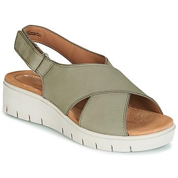 Topánky Ženy Sandále Clarks UN KARELY SUN Zelená