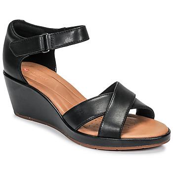 Topánky Ženy Sandále Clarks UN PLAZA CROSS Čierna