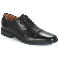 Topánky Muži Derbie Clarks TILDEN CAP Čierna
