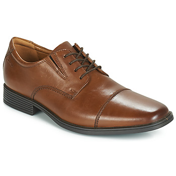 Topánky Muži Derbie Clarks TILDEN CAP Hnedá