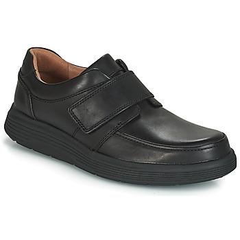 Topánky Muži Derbie Clarks UN ABODE STRAP Čierna