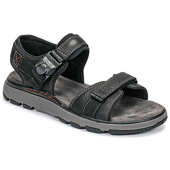 Topánky Muži Sandále Clarks UN TREK PART Čierna