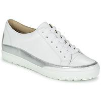 Topánky Ženy Nízke tenisky Caprice BUSCETI Biela / Strieborná