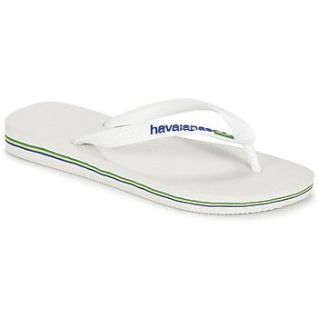 Topánky Žabky Havaianas BRASIL LOGO Biela