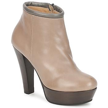 Topánky Ženy Nízke čižmy Keyté POULOI Hnedošedá