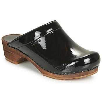 Topánky Ženy Nazuvky Sanita CLASSIC PATENT čierna