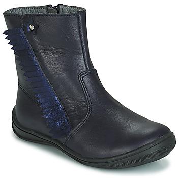 Topánky Dievčatá Polokozačky André INDIANA Námornícka modrá