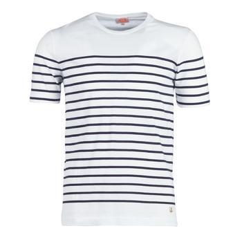 Oblečenie Muži Tričká s krátkym rukávom Armor Lux YAYALOUT Biela / Námornícka modrá
