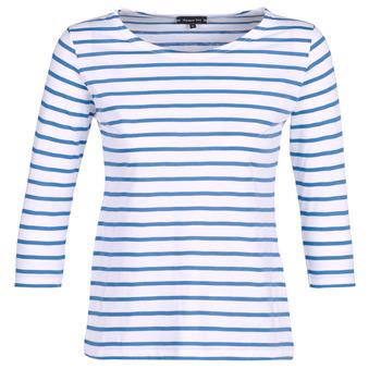 Oblečenie Ženy Tričká s dlhým rukávom Armor Lux YAYAROULE Biela / Modrá