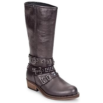 Topánky Dievčatá Čižmy do mesta Hip NIEGRA Hnedá