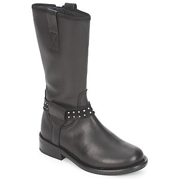 Topánky Dievčatá Polokozačky Hip GRABI čierna