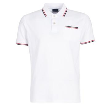 Oblečenie Muži Polokošele s krátkym rukávom Gant COL TIPPING PIQUE Biela