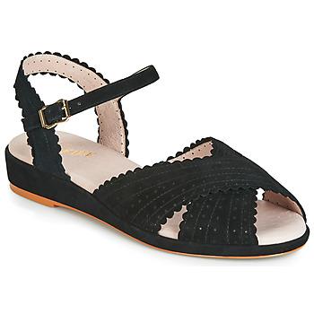 Topánky Ženy Sandále Miss L'Fire BRIGITTE Čierna