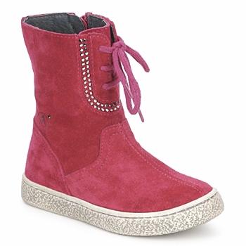 Topánky Dievčatá Polokozačky Naturino VELOUR Malinová