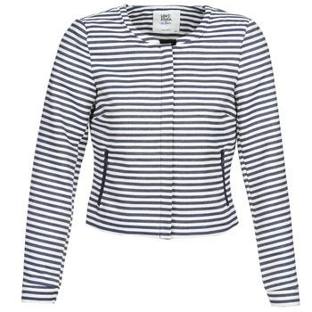Oblečenie Ženy Saká a blejzre Vero Moda MALTA Námornícka modrá / Biela