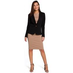 Oblečenie Ženy Šaty Style S154 Sako s jedným gombíkom - čierne