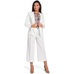 Oblečenie Ženy Módne overaly Style S140 Sako na mieru so zipsami - ecru