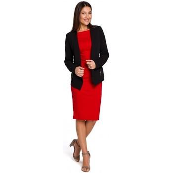 Oblečenie Ženy Módne overaly Style S140 Sako na mieru so zipsami - čierne