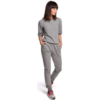 Oblečenie Ženy Súpravy vrchného oblečenia Be B104 Kombinéza s výstrihom do V - sivá