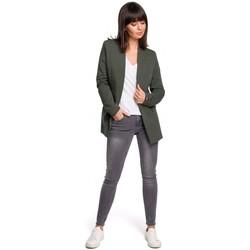 Oblečenie Ženy Šaty Be B103 Otvorené sako plus size - vojensky zelené