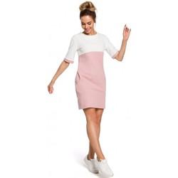 Oblečenie Ženy Šaty Moe M418 Farebné šaty - púdrová + ecru
