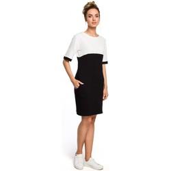 Oblečenie Ženy Šaty Moe M418 Farebné šaty - čierna + ecru