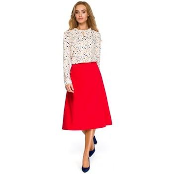 Oblečenie Ženy Mikiny Style S133 Midi sukňa áčkového strihu - červená