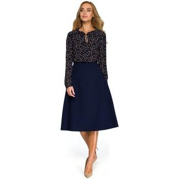 Oblečenie Ženy Blúzky Style S133 Midi sukňa áčkového strihu - tmavomodrá