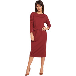 Oblečenie Ženy Šaty Style S120 Šaty s golierom a opaskom - kráľovská modrá
