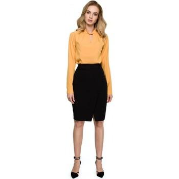 Oblečenie Ženy Šaty Style S127 Zavinovacia ceruzková sukňa - čierna