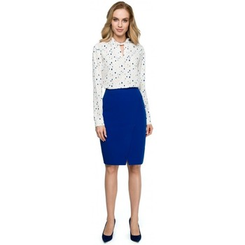 Oblečenie Ženy Cardigany Style S127 Zavinovacia ceruzková sukňa - kráľovská modrá