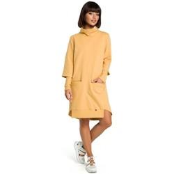 Oblečenie Ženy Šaty Be B089 Asymetrické šaty s výstrihom - žlté