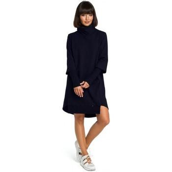 Oblečenie Ženy Šaty Be B089 Asymetrické šaty s výstrihom - tmavomodré