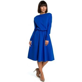 Oblečenie Ženy Krátke šaty Be B087 Šaty midi strihu - kráľovská modrá