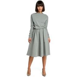 Oblečenie Ženy Šaty Be B087 Šaty midi strihu - sivé